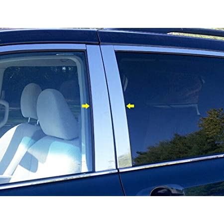 Car & Truck Parts Exterior 8PC Stainless Steel Window Trim Package ...
