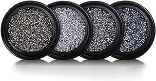 The Best 2020 Year Nail Trends Crushed Stone Crystal Sand for Manicure DIY Nail Art Kit, Nail Art Decorations Mini 3D Diamond Micro Rhinestones 4pcs(Gold,Black,Silver,Blue)