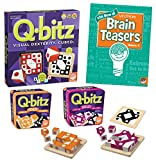 MindWare Q-bitz Collection: Set of 3 with Bonus Brainteaser Book
