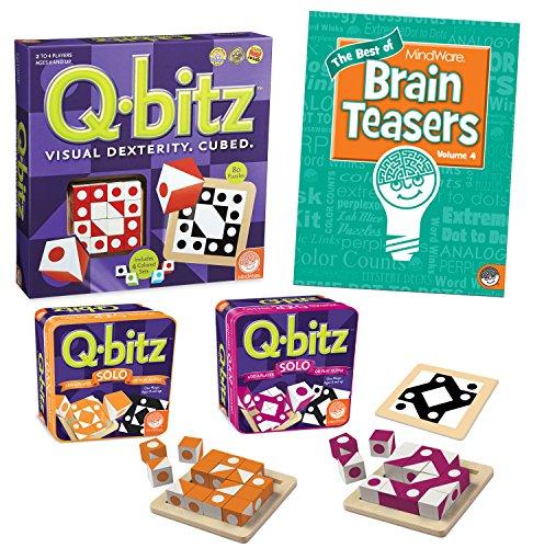 MindWare Q-bitz Collection: Set of 3 with Bonus Brainteaser Book