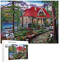 APAN田舎の家大人の子供のための木製のジグソーパズルパズルゲームおもちゃ家の装飾のための創造的な贈り物1000個