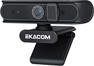 Webcam 1080p Full HD Web Camera, Pro Streaming Webcam with Microphone & Privacy Cover, 2021 Upgraded USB Computer Camera w...