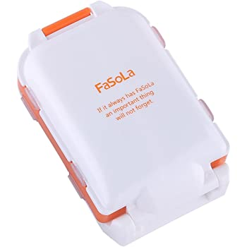 FaSoLa Portable Pill Case Box (Orange)