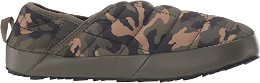 New Taupe Green/Burnt Olive Green Woodland Camo Print