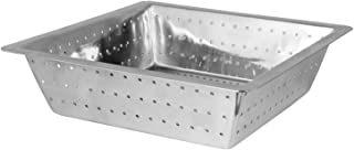 Excellante Commercial Floor Drain Strainer, 304 Stainless Steel, 0.8Mm, 10-Inch by 10-Inch by 3-Inch