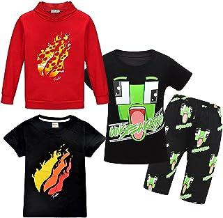 Boys Girls Kids Pizza Rainbow Prestonplayz Hoody Hoodie Hooded Sweatshirt YouTube Youtuber Preston Gaming Top