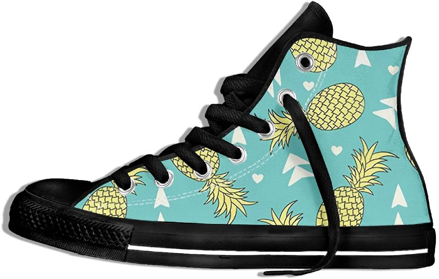 Unisex Hi-Top Canvas Sneakers Pineapple Flat Anti-slip Running Trainers shoes
