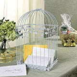 This metal card holder is decorative and useful, too. Put this White Birdcage card holder on the gift table at your reception for wedding guests to slip their cards into. Get crafty with it and add your own DIY touch to create a unique look with your...