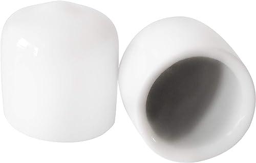 Prescott Plastics 3/8 Inch White Round Vinyl Rubber Cap, FDA Food Grade, Flexible Pipe Post Cover (10)