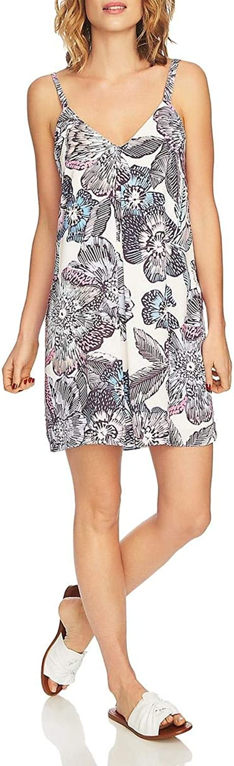 1.STATE Womens Adjustable Floral Slip Dress