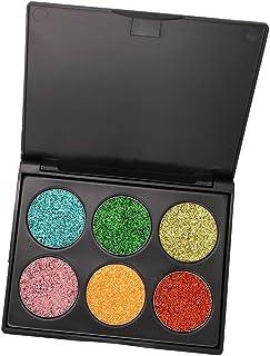 CUTICATE 6色 キラキラ アイシャドウ パウダー アイシャドー 化粧 パレット シマーセット 全3種類 - #C
