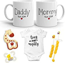 2019 Est Pregnancy Gift - New Mommy and Daddy Est 2019 11 oz Mug Heart Set with