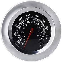 JENOR - Termómetro de acero inoxidable con pantalla de acero inoxidable para barbacoa y ahumador