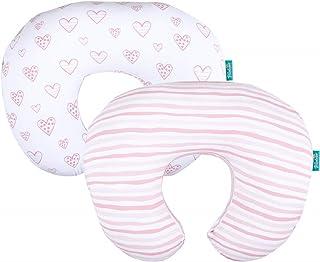 روکش بالش پرستاری 2 بسته ، بالشتک پرستاری 100٪ نخی پنبه ای جرسی برای مادران بالش شیردهی و تغذیه بطری ، روکش بالش فوق العاده نرم نوزاد