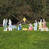 Outdoor Nativity Store Classic Outdoor Nativity Set - Full Yard Scene (Large)
