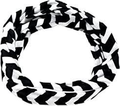 Pop Fashion Womens Chevron Print Pattern Infinity Scarf Wrap with Zipper Pocket