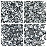 Cuentas de vidrio facetado checo, Fire-Polished, redondas 3mm, 4mm, 6mm, 8mm. Crystal Labrador. Un total de 275 piezas. Set 1CFP 012 (3FP065 4FP007 6FP007 8FP007)