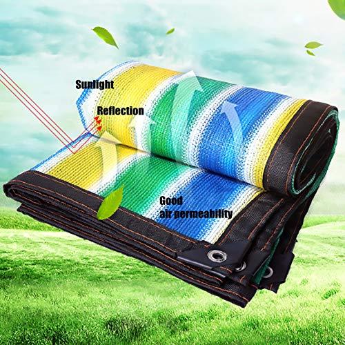 BGFC Sonnensegel HDPE Atmungsaktiv Überdachung Netto 85% Sonnencreme Draussen Garten Terrasse Zaun Pflanze Abdeckung, Streifen Farbe, Anpassen-2x3m