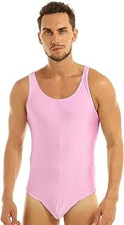 ACSUSS Men's Stretch Racer Back High Cut Thongs Leotard Bodysuit Singlet Swimsuit