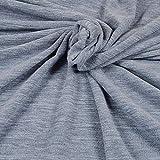 Qualitativ hochwertiger Fleece Stoff von Hilco in Blau-Grau