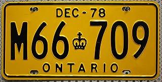 ONTARIO Nummernschild Oldtimer Kennzeichen # Canada License Plate # Metallschild aus KANADA