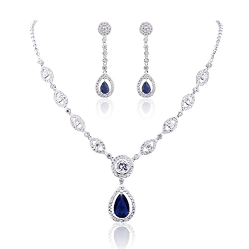 05a49957e3d0c GULICX AAA Cubic Zirconia CZ Women's Party Jewelry Set Fashion Earrings  Pendant Necklace Silver Plated