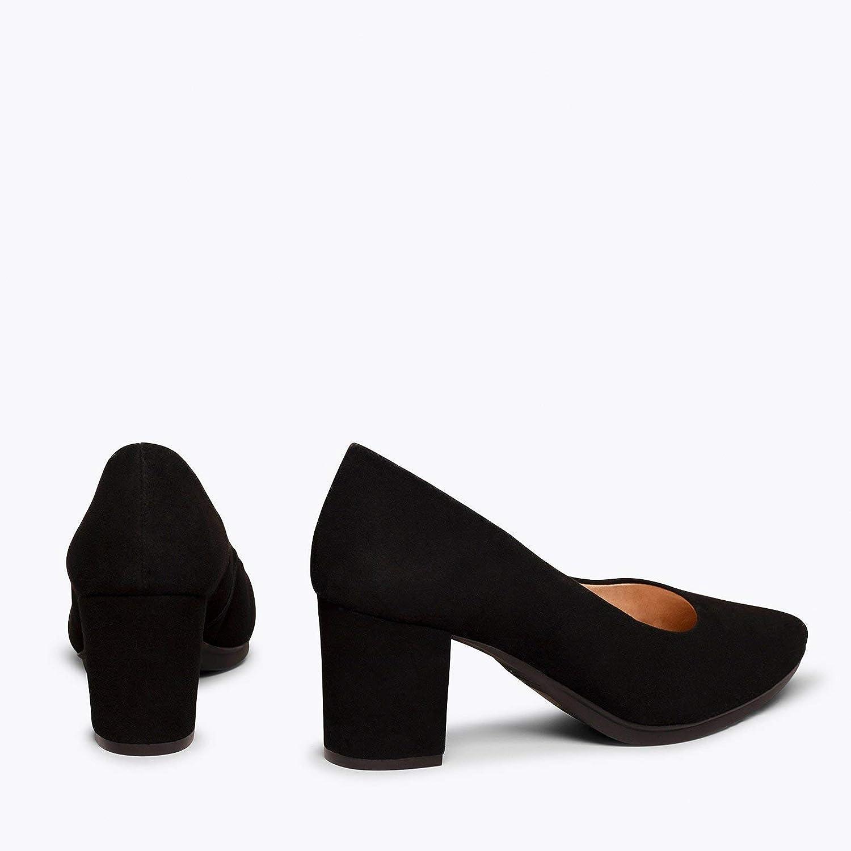 Chaussures /à Talon Moyen Confortables Printemps-/Ét/é miMaO Chaussures Escarpins en Daim Made in Spain