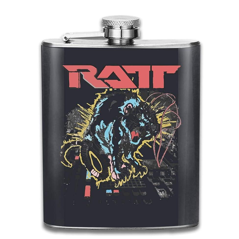 つかむ振幅推測ヒップフラスコ RATT ラット ステンレスボトル ステンレス製 アウトドア 水筒 ウィスキーボトル スキットル ヒップフラスコ シンプル プレーン さびない 滑り止め 焼酎 清酒 携帯用 超軽便利 U型 7oz