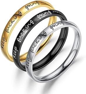 Jpwpowe Minimalist 1 MM Super Skinny Smooth Titanium Steel Stacking Ring Fashion Jewelry