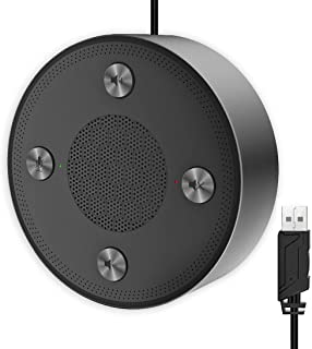 USB Microphone Speakers, CMTECK ZM330 Speakerphone - Omnidirectional Desktop Computer Conference Mic with 360º Voice Pickup, Mute Function for Streaming, VoIP Calls,Skype,Interviews,Chatting