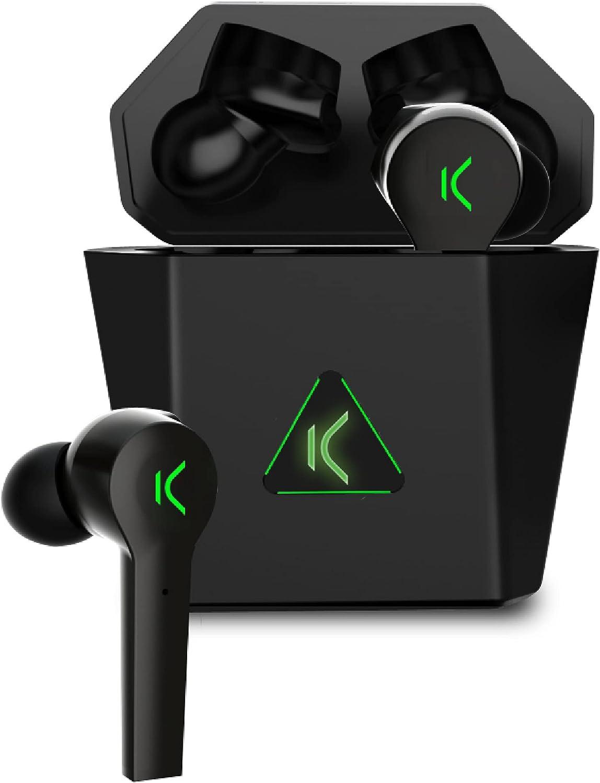 KSIX Saga Auriculares Inalámbricos Gaming con Bluetooth 5.0. Cascos sin Cable con Micrófono para Videojuegos, Deporte, Pc, Televisión y Móvil para Música, Llamadas