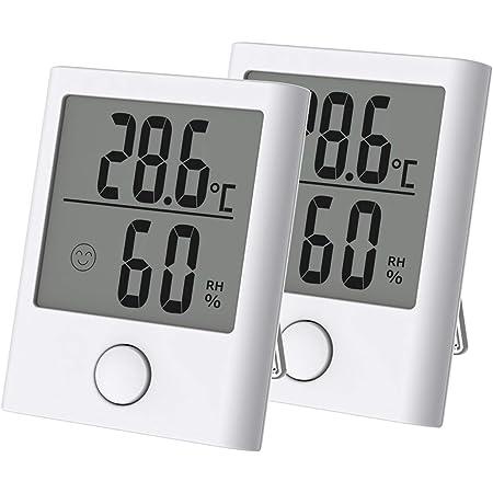 Homidy 2er Pack Thermo Hygrometer Hygrometer Innen Digitales Thermometer Hygrometer Feuchtigkeitsüberwachung Sensirion Digitalsensoren Geeignet Für Babyzimmer Wohnzimmer Innenraum Büros Usw Garten