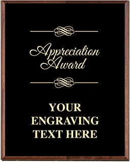 Corporate Appreciation Plaques - 5 x 7 Gold Etched Recognition Trophy Plaque Awards Prime