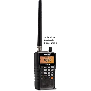 Uniden BC75XLT, 300-Channel Handheld Scanner, Emergency, Marine, Auto Racing, CB Radio, NOAA Weather, and More. Compact Design. (New replacement model, Replaced by Uniden SR30C Bearcat)