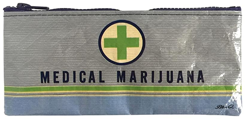 Blue Q Pencil Case, Medical Marijuana, Made Out of 95% Recycled Materials, 4.25 by 8.5 Inches (QA743)