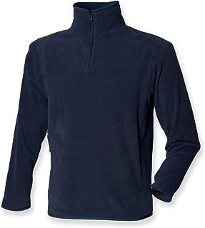 Henbury Men's Zip Neck Inner Micro Top