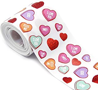 David accessories Laser Holographic Grosgrain Ribbon Heart Love Printed 3