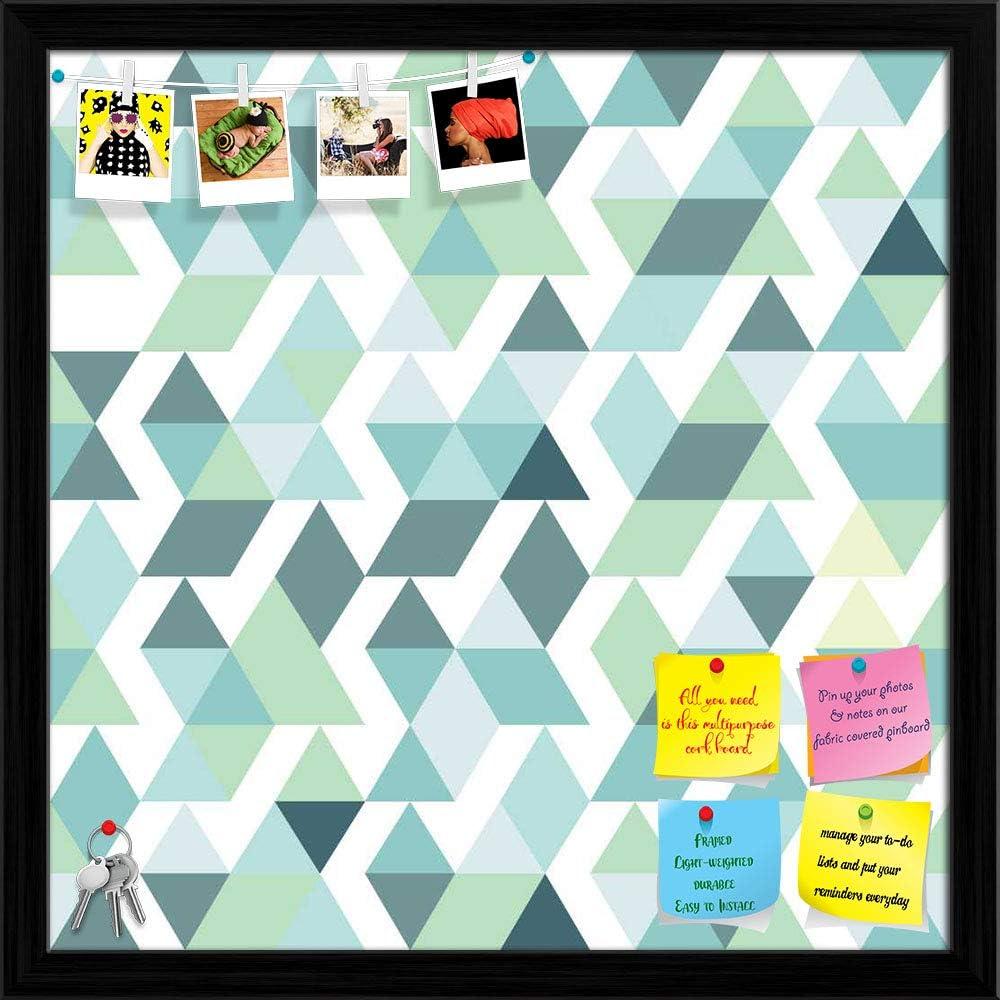 Memphis Mall Artzfolio Bright Blue Oakland Mall Triangles Printed Bulletin Pi Notice Board