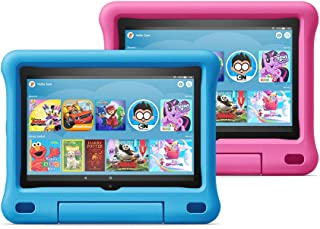 """Fire HD 8 Kids Edition tablet 2-Pack, 8"""" HD display, 32 GB, Kid-Proof Case - Blue/Pink"""