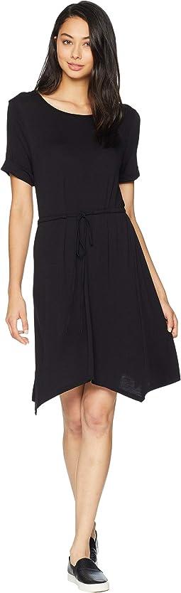 Cascade Hem Dress