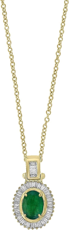 Effy Brasilica 14K Yellow Gold Emerald Diamond Pendant Ranking TOP10 and Austin Mall 1.7