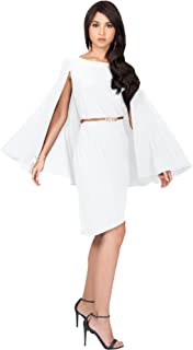 White Cape Dress Plus Size