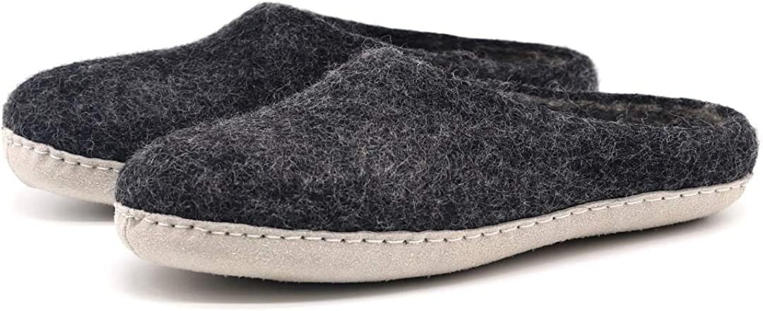 Nootkas Men's Felted Merino Wool House service Max 58% OFF Mule Slipper 'Astoria'