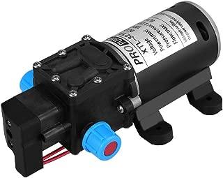自動プライミング水ポンプ 水ダイヤフラム圧力ポンプ ウォーターポンプ ダイヤフラム式 高圧セルフプライミングウォーターポンプ ポンプスプレー 小型 電動 12V DC 100W 8L /min 160Psi 自吸式水ポンプ 洗濯機/船舶用/太陽エネルギー水用