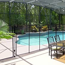 Sentry Safety Pool Fence Visiguard is The Most See-Thru Pool Fence on The Market 4' Tall 12' Long Removable Child Safety Fence (Tan)