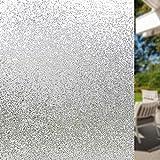LMKJ Película de Ventana esmerilada protección de privacidad electrostática Reutilizable caída de Agua decoración película de Vidrio decoración del hogar película A53 40x100cm