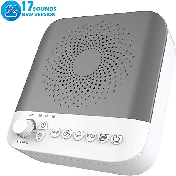 White Noise Machine Sleep Sound Machine With 17 Non Looping Soothing Sounds For Baby Adults Kids Sleeping Relaxation High Quality Speaker Portable Sleep Therapy Machine