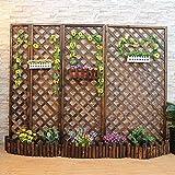 IOUYRRN Cercas decorativas de jardín Cerca de jardín Valla de enrejado Cerca decorativa Cerca de la cerca Sistema de la flor Soporte de jardín Patio interior de jardín jardín al aire libre fácil de in