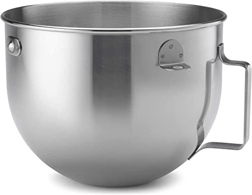 popular KitchenAid sale 5qt Polished wholesale Stainless Steel Wide Mixer Bowl with Flat Handle online