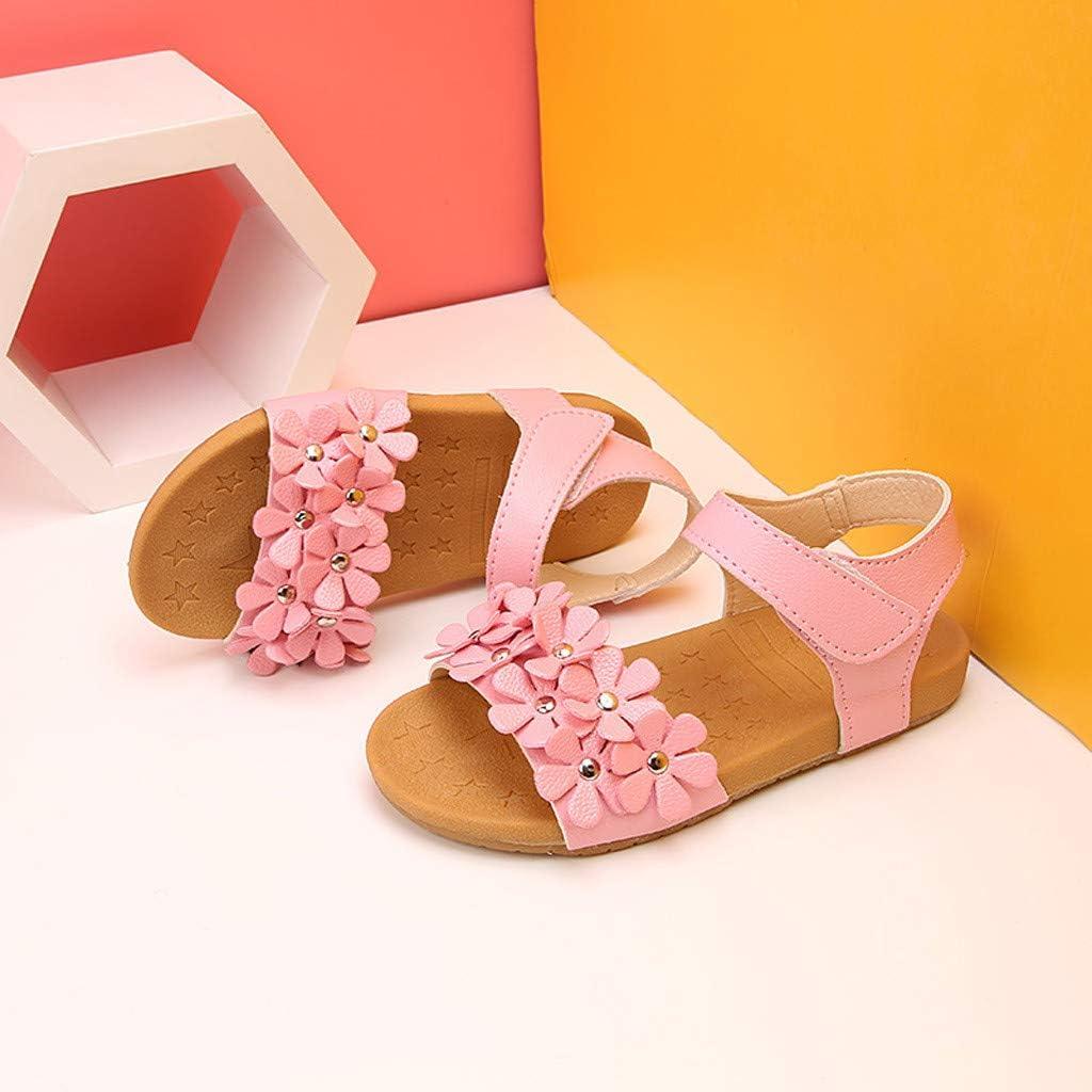 Baby Girls Sandals Toddler Newborn Summer Open-Toe Little Kids Floral Upper Princess Sandal Slippers Boots Crib Shoes